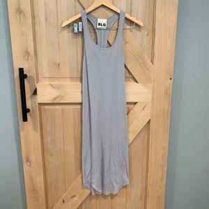 BLQ BASIQ Racer Back Dress in Gray